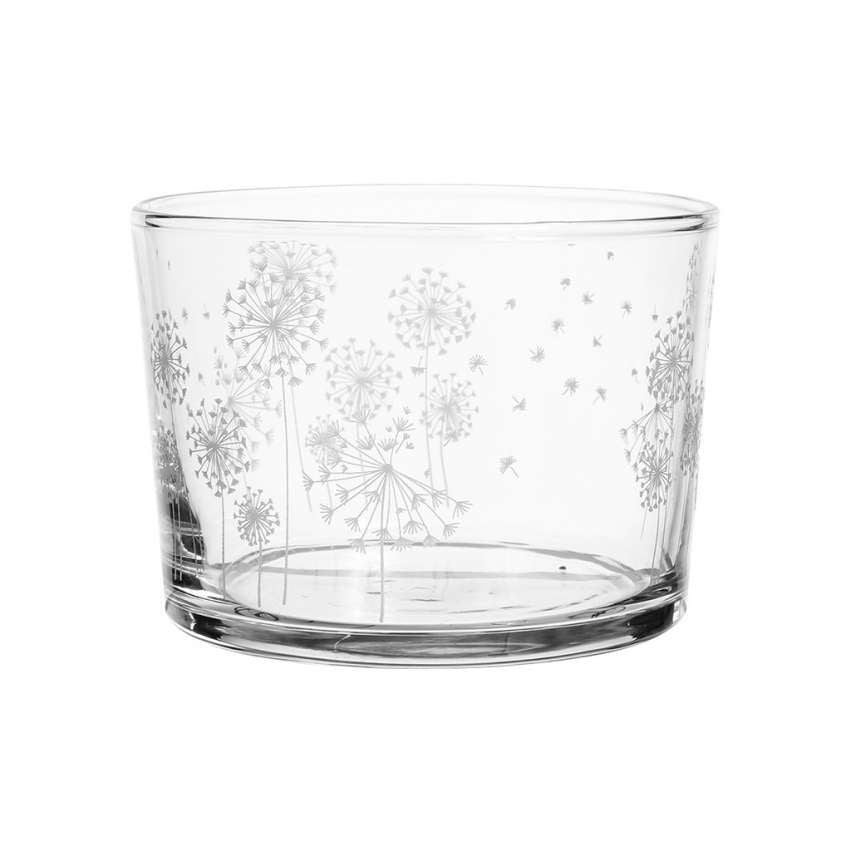 Mini Tumbler with Etched Dandelions