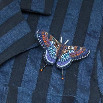 Red Spotted Purple Butterfly Brooch