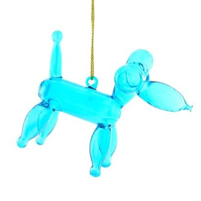 Blue Poodle Balloon Ornament