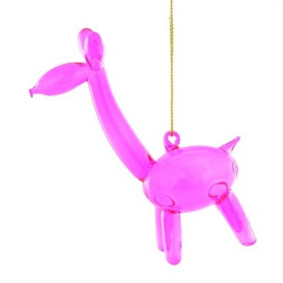 Pink Balloon Giraffe Ornament