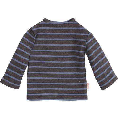 Mega Long Sleeve Top Marine Blue Stripped