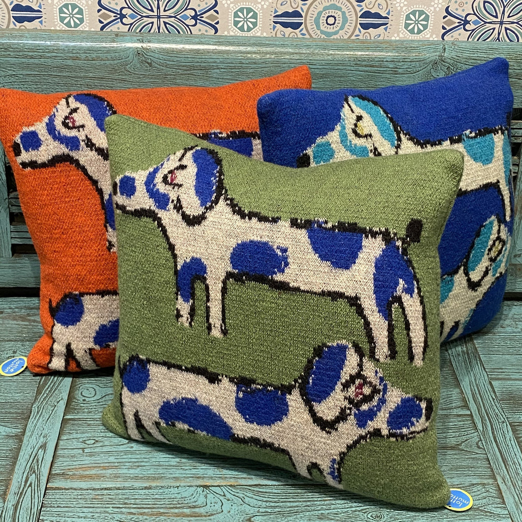 Apple Green Dachshund Cushion