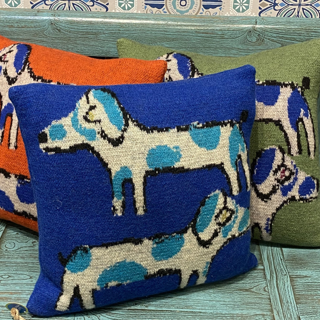 Cobalt Blue Dachshund Cushion
