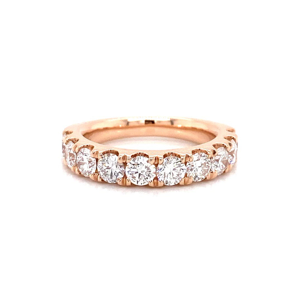 Vena Nova's Lab Created Diamond Halo Rose Gold Ring in 1.85ct