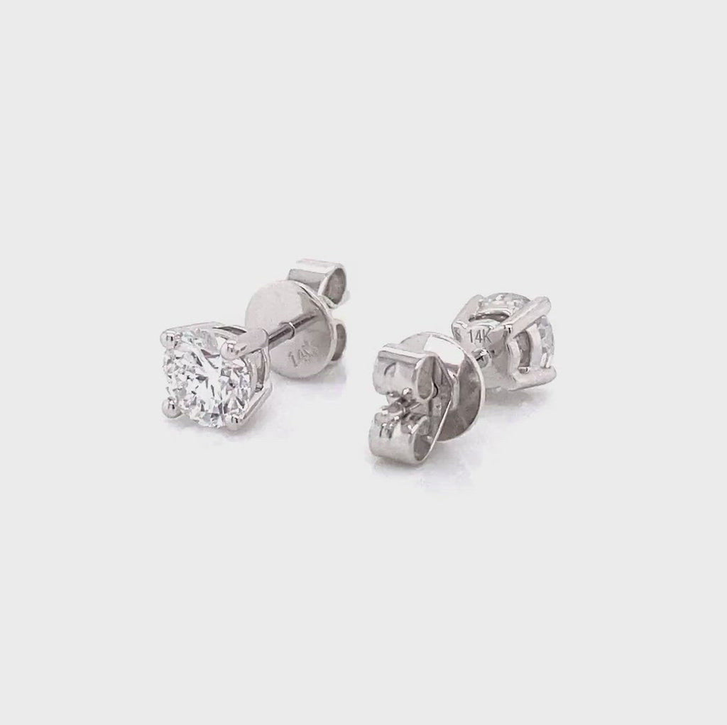 diamond stud earrings in 14k white gold 1.06ct made by vena nova lab created diamonds
