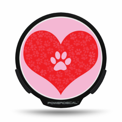 Paw in Heart POWERDECAL® + Lens