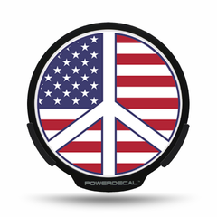 American Flag Peace Sign POWERDECAL® + Lens