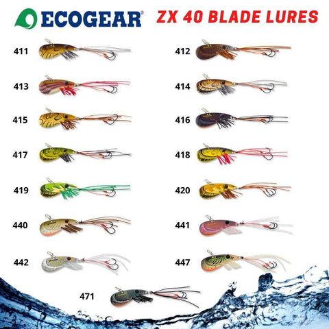 Ecogear ZX40 Fishing Blade Lure - Hard Body Vibe For Bream |Trout | Bass