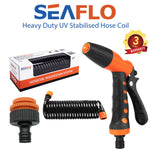 SEAFLO Boat Deck Wash Hose Coil - Spray Nozzle Kit