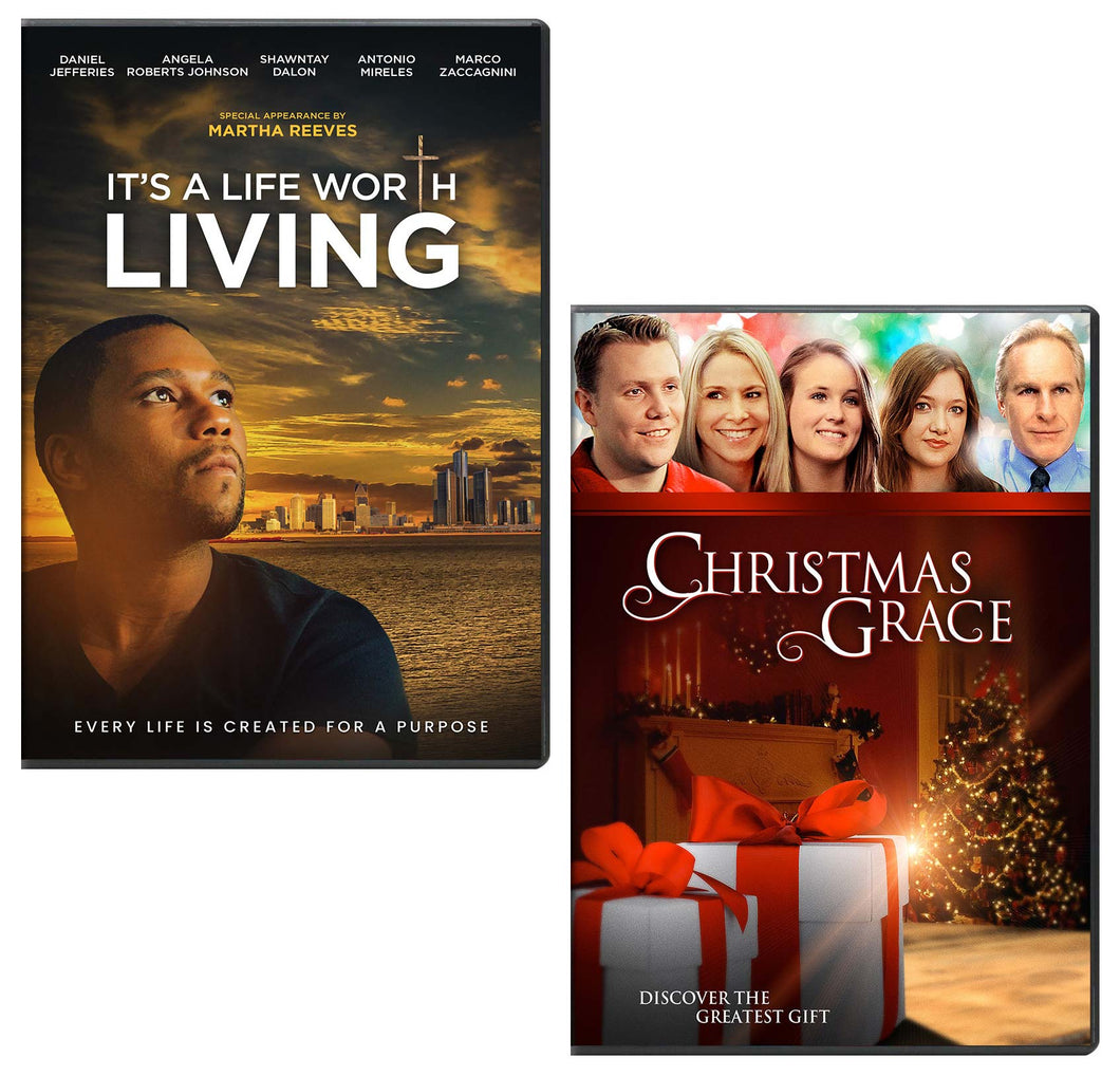 It's A Life Worth Living & Christmas Grace - DVD 2-Pack