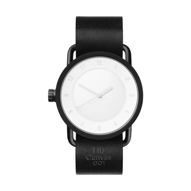 TID Watches TID Watch 40mm Canvas 001 w/ Black Leather Wristband (Limited Edition)