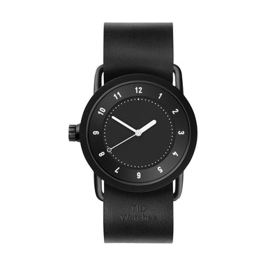 TID Watches TID Watch 36mm No.1 Black w/ Black Leather Wristband