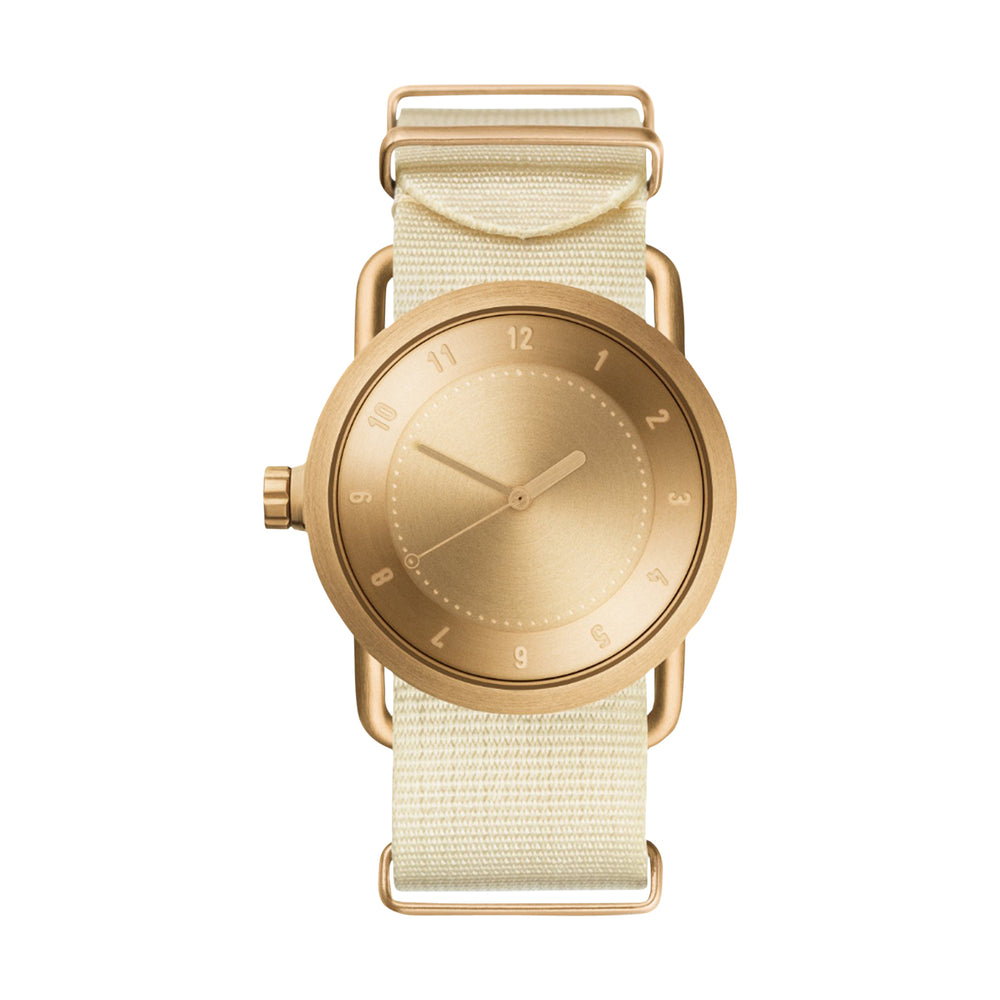 TID Watches - 36mm No.1 Gold w/ Off-White Nylon Wristband