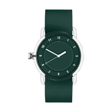 TID Watches TID Watch 38mm No.3 TR90 Green / Green Silicone Wristband