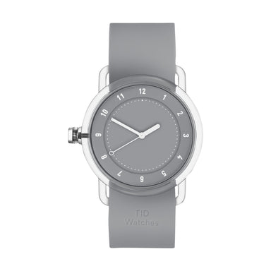 TID Watches TID Watch 38mm No.3 TR90 Grey w/ Grey Silicone Wristband