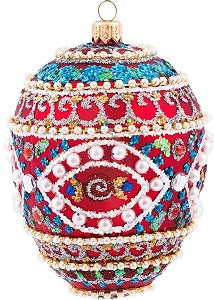 Red Mosaic Egg Ornament