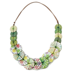 Azalea-Print Necklace in Apple or Honey