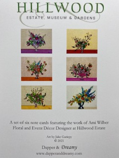 Illustrated Hillwood Floral Arrangements Notecard Set