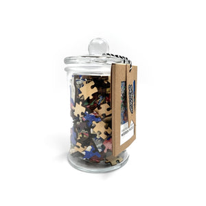 Floral Table Cover Wooden Puzzle in a Jar