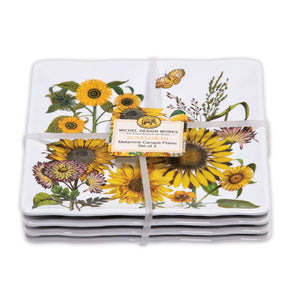 Sunflower Canape Plate Set of Four
