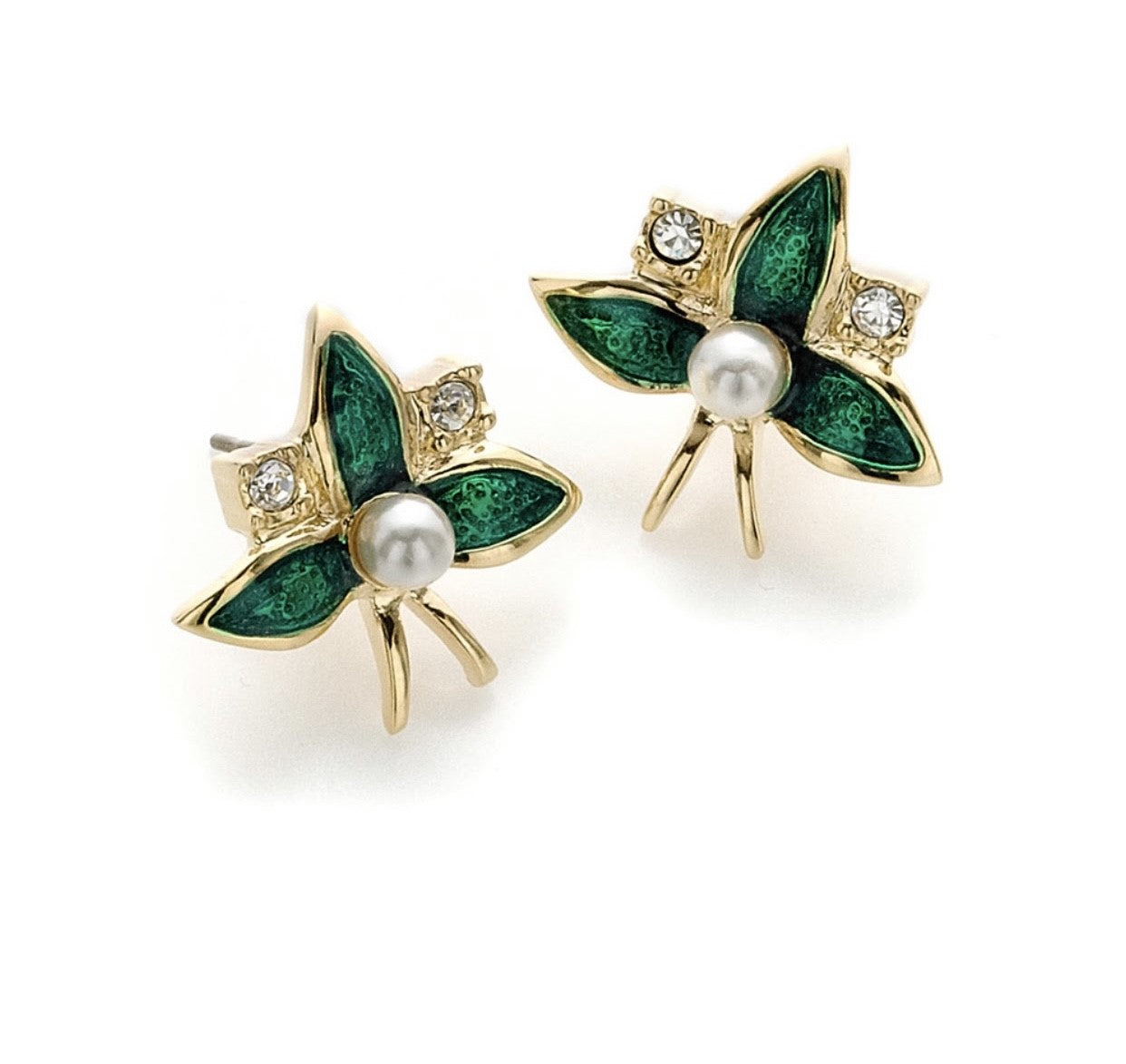 Emerald Fabergé Flower Earrings