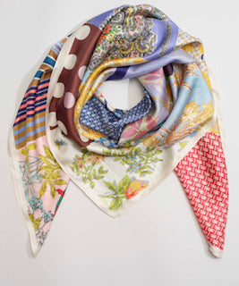 Patchwork Silk Square Scarf