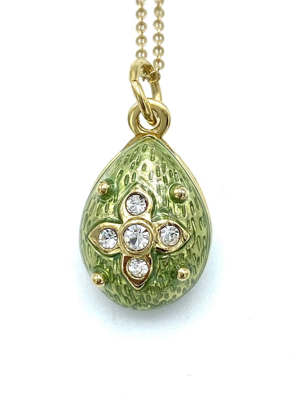Green Crystal Egg Necklace