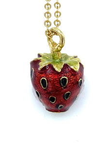 Strawberry Egg Necklace