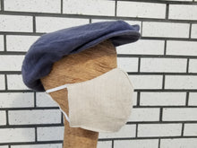 Load image into Gallery viewer, Medium Denim Blue Linen Driving Cap