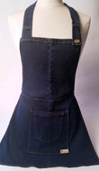 Upcycled Full Dark Denim Apron by Shop Small Chicago