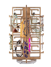 Load image into Gallery viewer, Bamboo Chinoiserie Rotating Accessories Organizer by Design2Rave