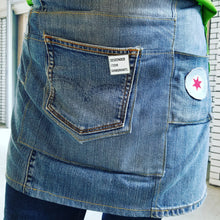 Load image into Gallery viewer, Salvage Denim Apron with Levi's Pocket by Shop Small Chicago
