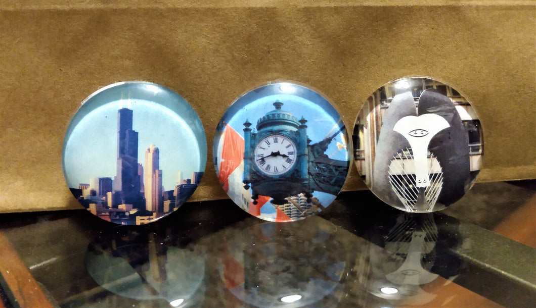 Set of 3 Chicago Image Magnets by Neighborhood Goodz