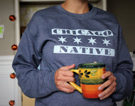 Chicago Native with Six Point Stars Sweatshirt