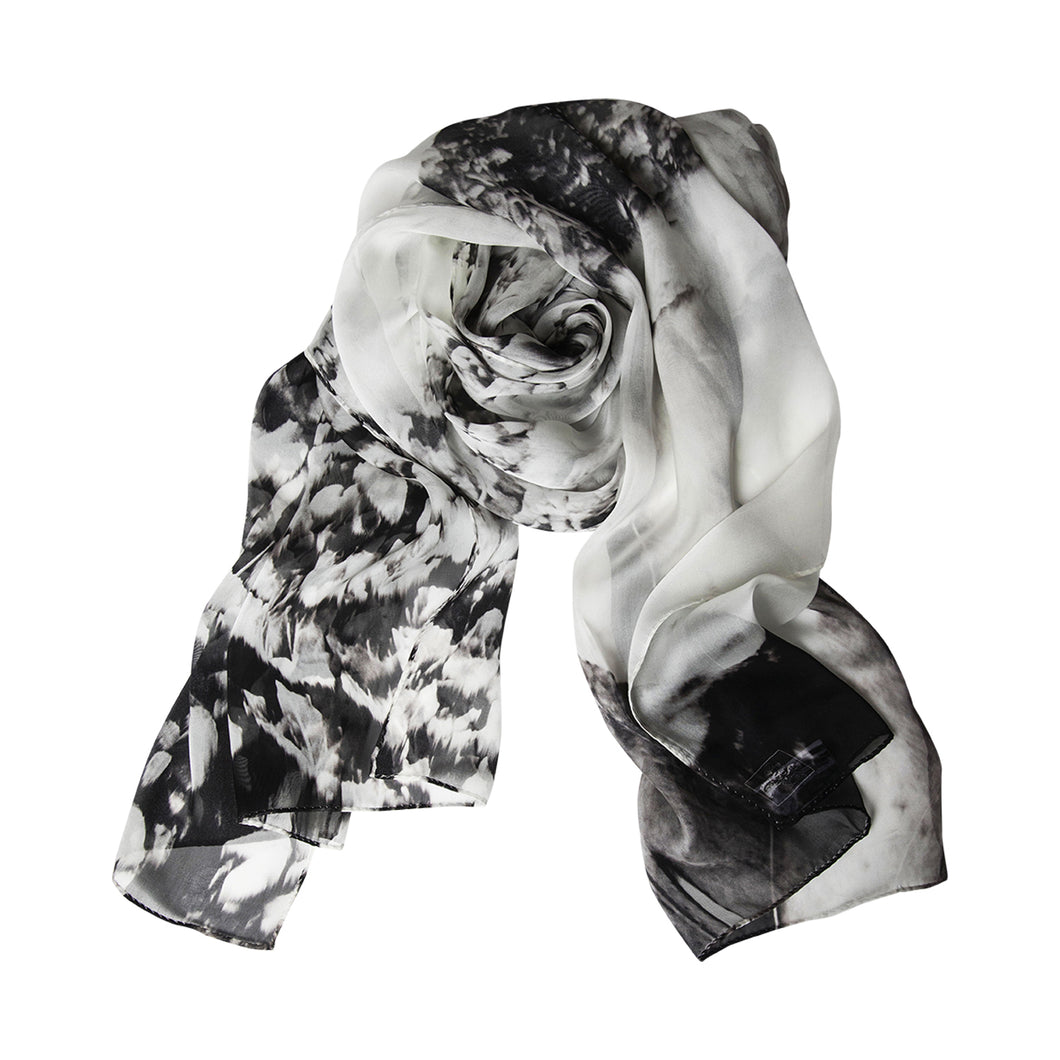 War and Nature Memorial Water Vines Silk Story Scarf by ImageDiary