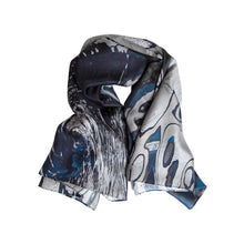 Load image into Gallery viewer, Aachen: Reflections II Silk Story Scarf by ImageDiary