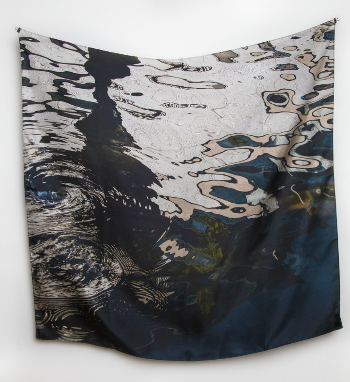 Aachen: Reflections II Silk Story Scarf by ImageDiary