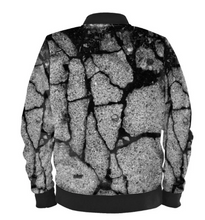 Load image into Gallery viewer, Satin Bomber Jacket in Concrete Digital Print Fabric for Women by Lauren Lein