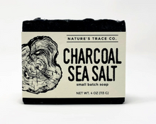 Load image into Gallery viewer, Charcoal Sea Salt Handcrafted Soap by Nature's Trace