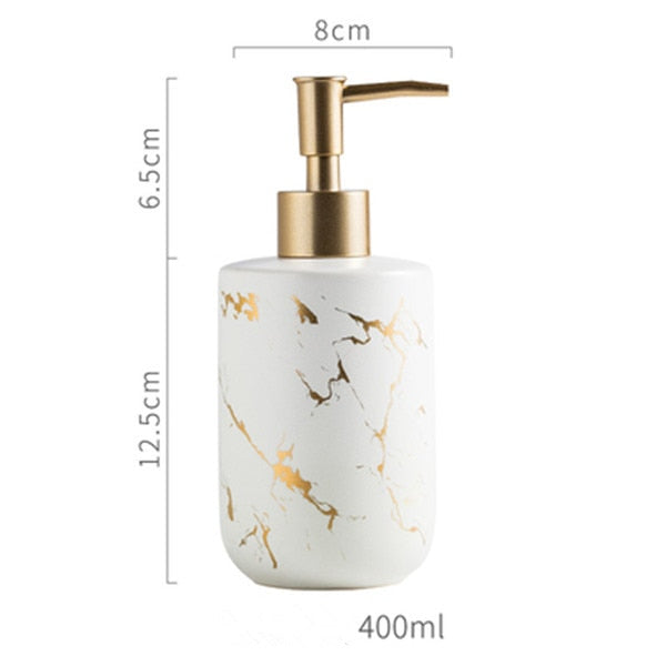 Luxury Ceramic Marble Bathroom Set