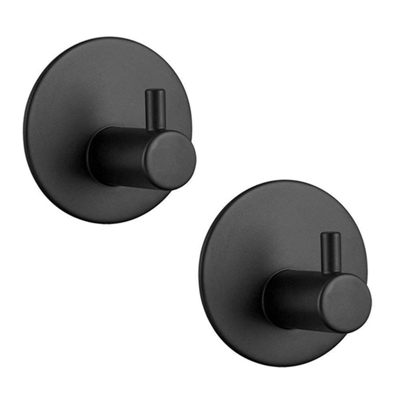 Black Wall Mounted Adhesive Hook