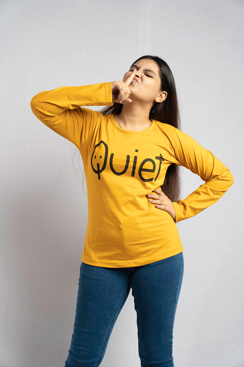 Full Sleeve Yellow Quiet Tee
