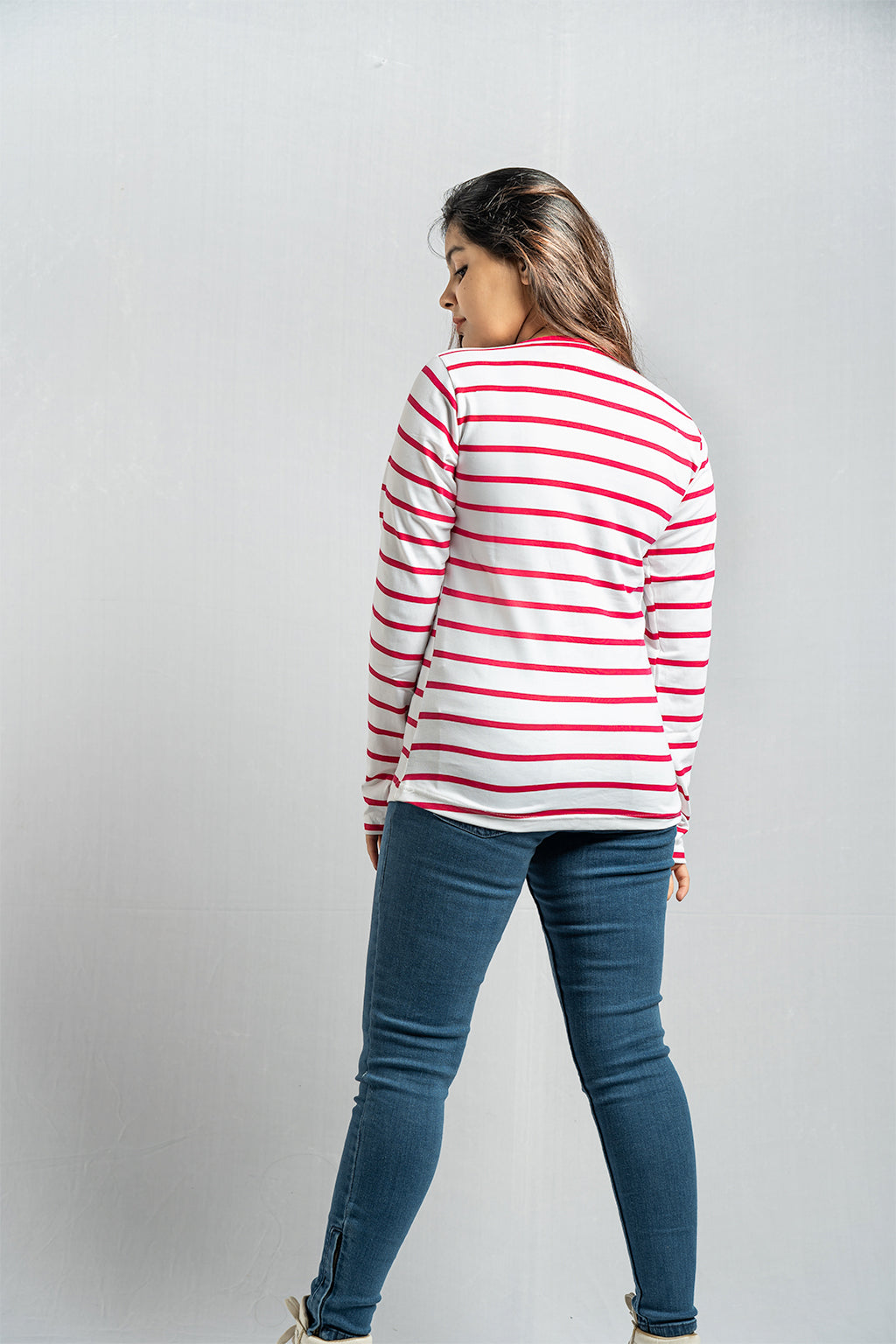 Full Sleeve Red Stripe Tee
