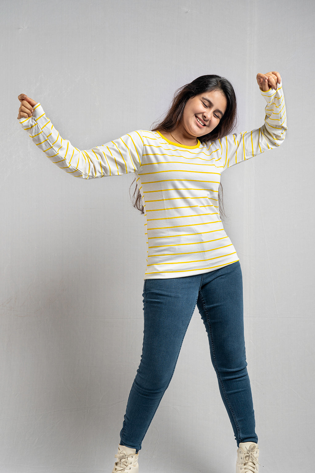 Full Sleeve Yellow Stripe Tee