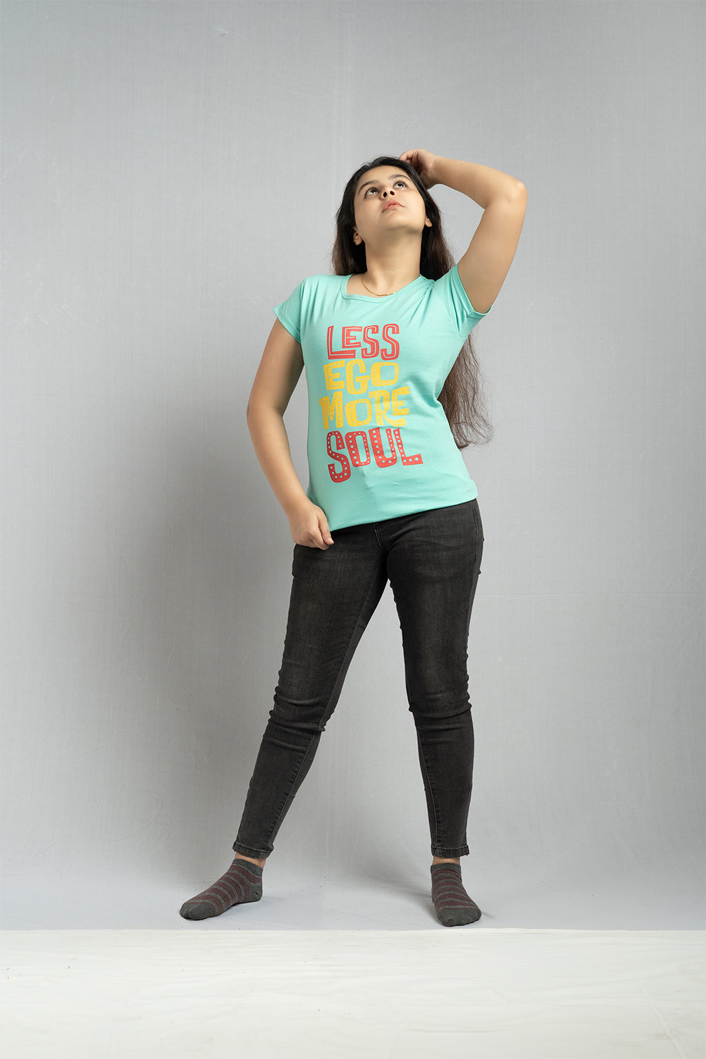 Blue Less Ego More Soul Tee