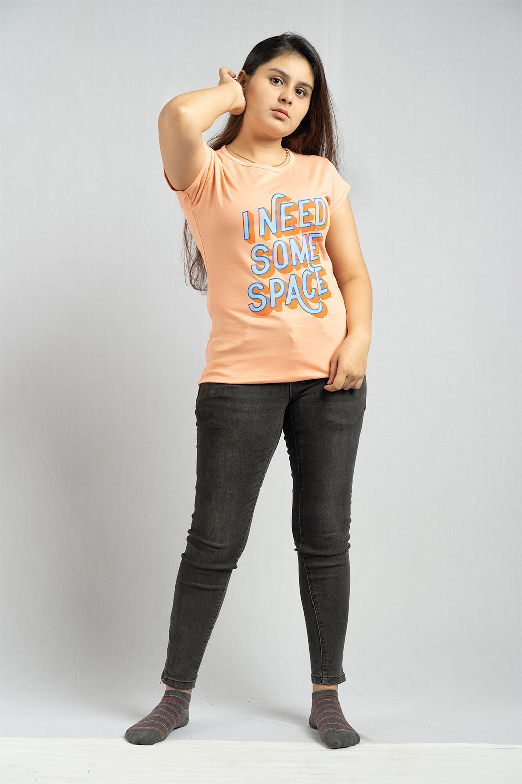 Peach I Need Some Space Tee