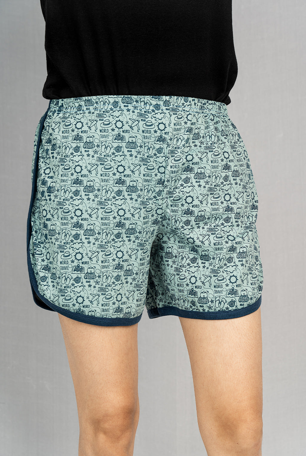 Hat Print Hot Pants