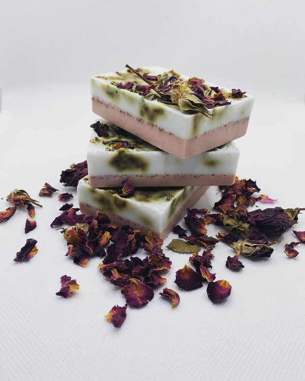 BED OF ROSES BAR SOAP