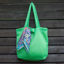Load image into Gallery viewer, Lime Green Marshmallow Tote Bag