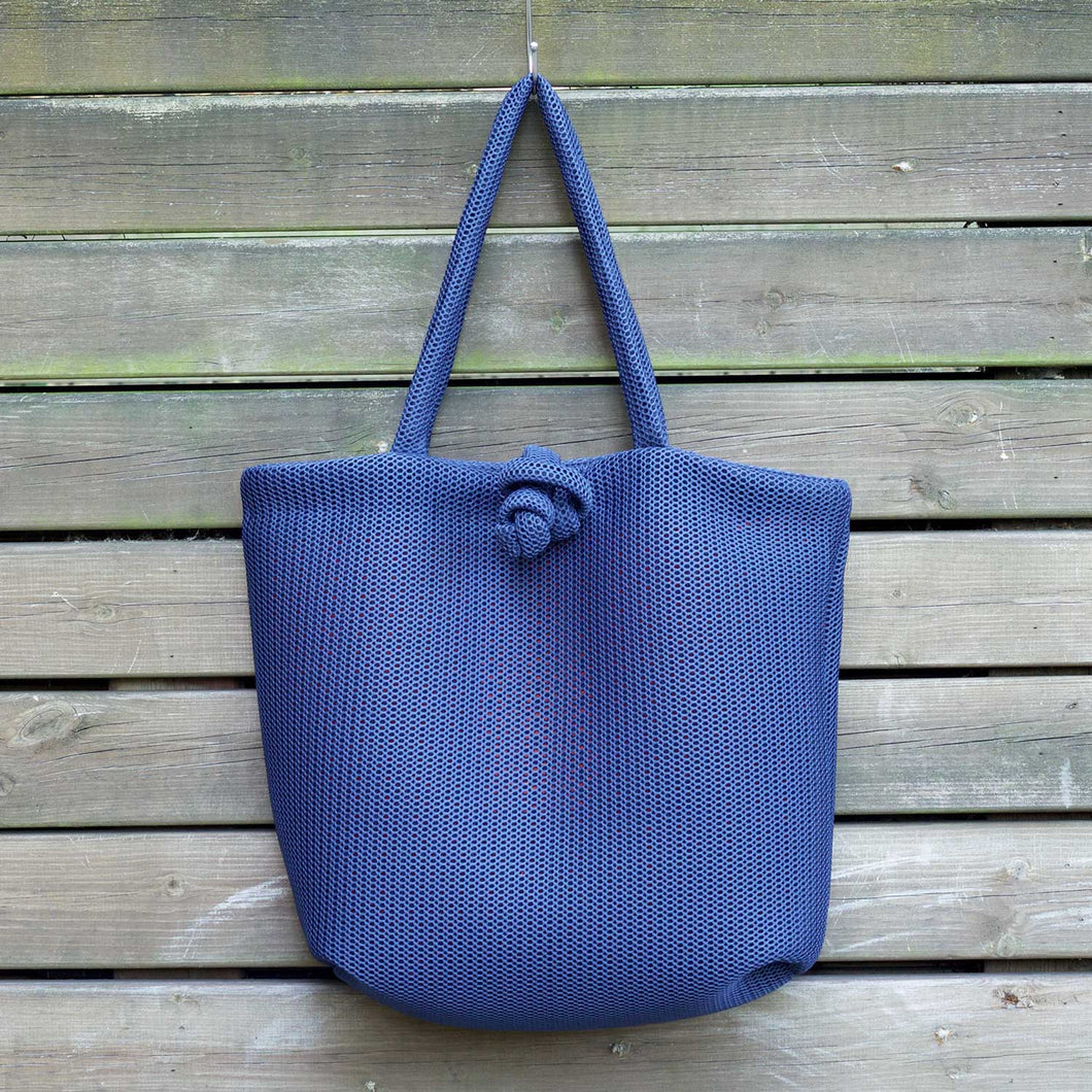 Navy Marshmallow Tote Bag